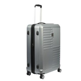 Ful Urban Grid Silver 21-inch Carry On Expandable Hardside Spinner Suitcase