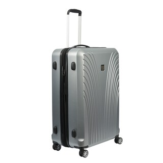 Ful Curve Geo Silver 25-inch Hardside Spinner Upright Suitcase