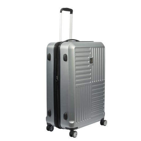 Ful Urban Grid Silver 25-inch Hardside Spinner Upright Suitcase