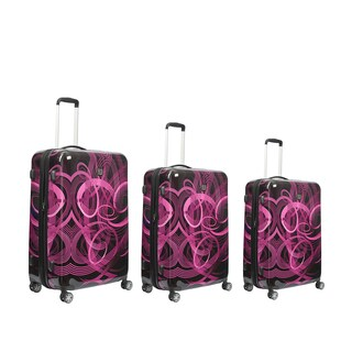 Ful Atomic Pink 3-piece Expandable Hardside Spinner Luggage Set