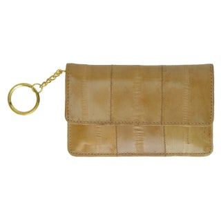 Genuine Embossed Eel Leather Coin Change Purse