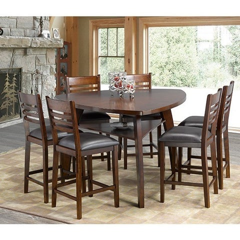 Brassex Emery 7-Piece Pub Set, Walnut