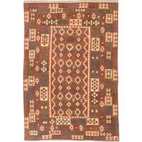 ecarpetgallery Flatweave Kashkoli Orange Wool Kilim Rug - 6'7 x 9'10