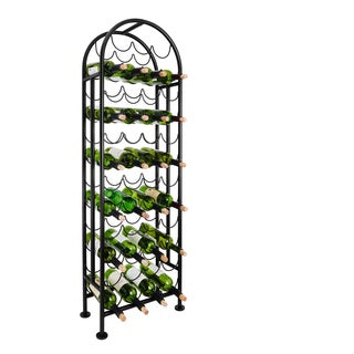 47 bottle matte black wine rack