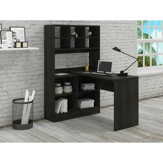 Camino Black Palm L-shape Computer Desk