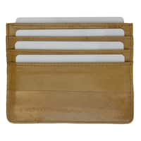 Embossed Eel Leather Credit Card Holder