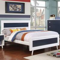 Furniture of America Kacie Modern Blue/White Panel Youth Platform Bed
