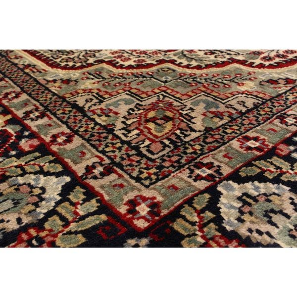 Hand Knotted Kashmir Red Wool Rug