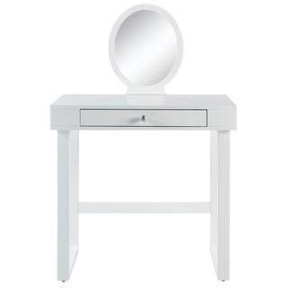 Versanora - Bellezza Kids Vanity W/Round Mirror - White