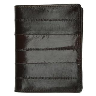 Genuine Embossed Eel Leather L Shape  Mens Wallet