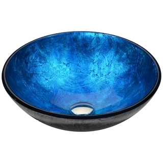 ANZZI Arc Series Vessel Sink in Frosted Blue