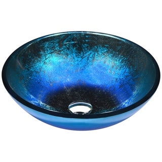 ANZZI Oceana Series Vessel Sink in Blue