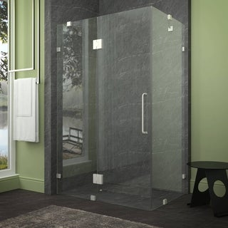 ANZZI Archon Series 46 in. by 72 in. Framed Hinged Shower Door in Brushed Nickel with Handle