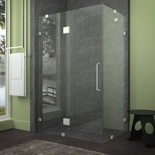 ANZZI Archon 46 in. x 72 in. Frameless Shower Door - Brushed Nickel