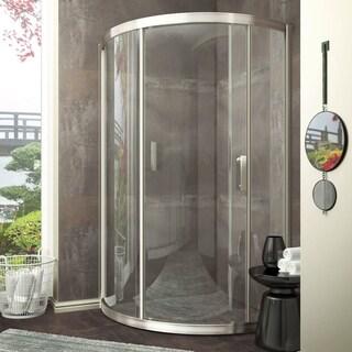 ANZZI Baron 39 x 74.75 in. Framed Sliding Shower Door - Brushed Nickel