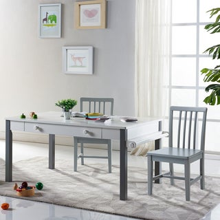 "Versanora Kids - Pittore Multi-Function Play table 23"" H and Chair Set - White/Grey"