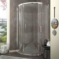 ANZZI Baron 39 x 74.75 in. Framed Sliding Shower Door-Polished Chrome