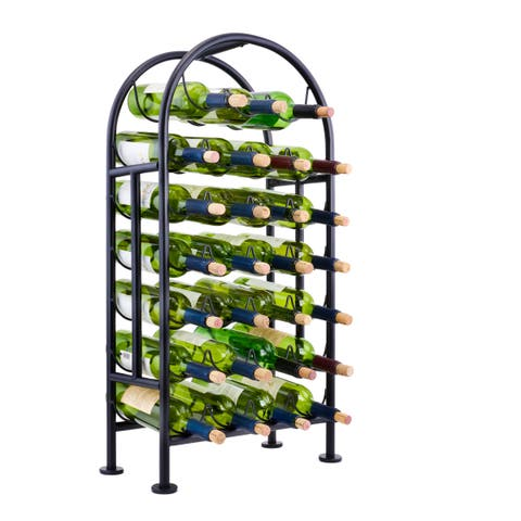 Porch & Den New River 27-bottle Matte Black Wine Rack