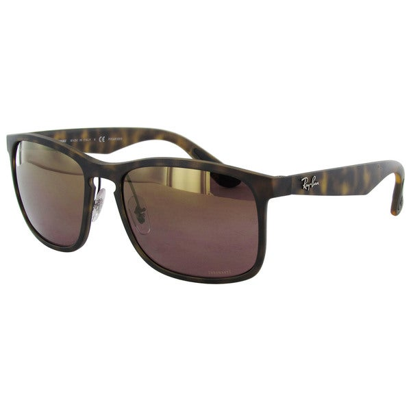 0906d9342c0 Ray-Ban Chromance RB4264 Mens Tortoise Frame Purple Mirror Polarized Lens  Sunglasses