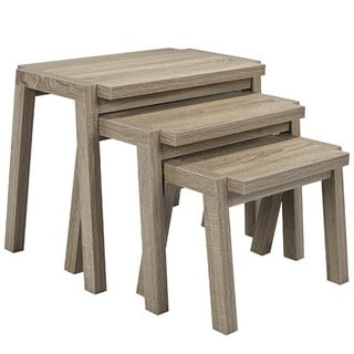 Brassex Nesting Tables, Set of 3, Dark Taupe