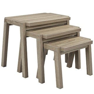 Brassex Nesting Tables, Set of 3, Dark Taupe|https://ak1.ostkcdn.com/images/products/16288341/P22654775.jpg?impolicy=medium