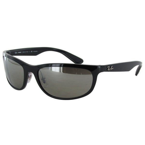 Ray-Ban Chromance RB4265 Mens Black Frame Silver Mirror Polarized Lens Sunglasses