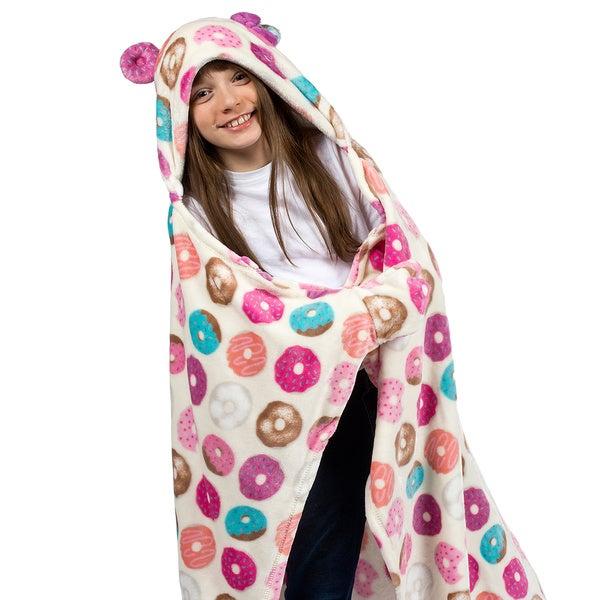 Berkshire Blanket Cuddly Buddies Kids Hooded Donut Throw