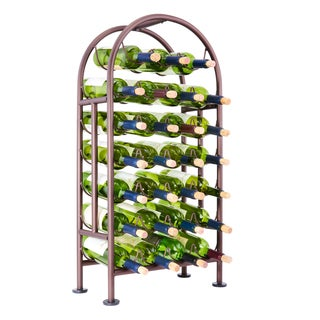 27 Bottle Oiled Bronze Wine Rack