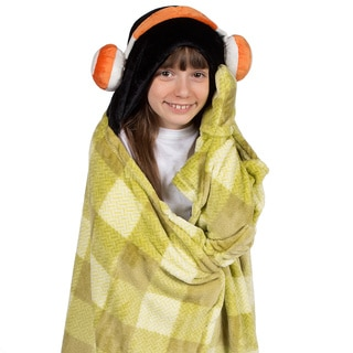 Berkshire Blanket Cuddly Buddies Kids Hooded Headphones Throw