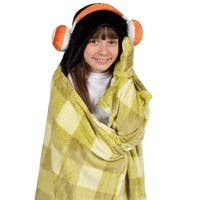 Berkshire Blanket Cuddly Buddies Kids Hooded Headphones Throw
