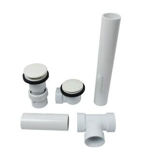 UNI-FLOW BRAVO Drain and Overflow Kit in White