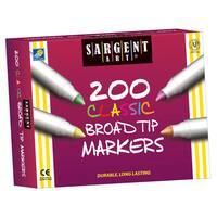 Sargent Art® Broad Tip Classic Markers Best-Buy Assortment, 200 Count