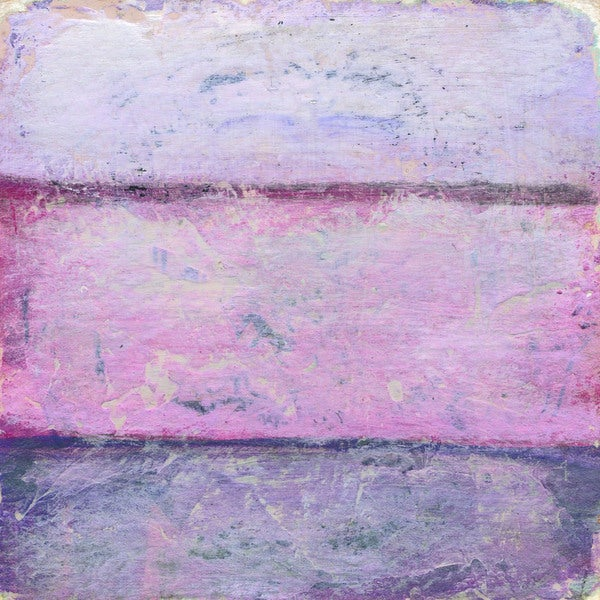 'Sprightly' Painting Print on Wrapped Canvas - Purple