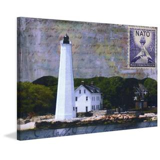 'Lighthouse V' Painting Print on Wrapped Canvas