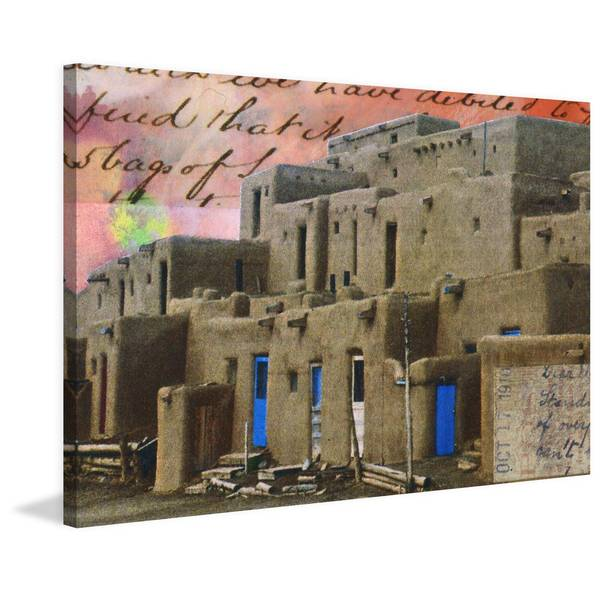 'Pueblo III' Painting Print on Wrapped Canvas