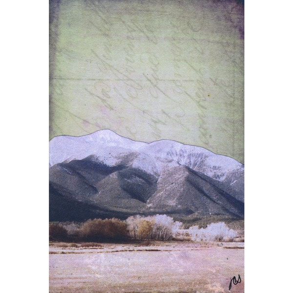 'Mountain Range VI' Painting Print on Wrapped Canvas - White