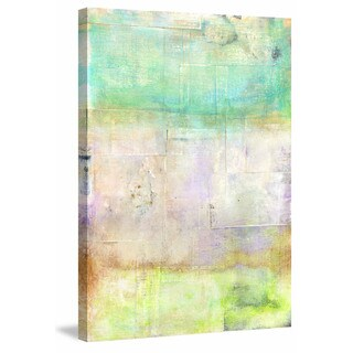 'Summer' Painting Print on Wrapped Canvas - Yellow