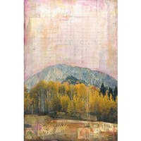 'Crested Butte II' Painting Print on Wrapped Canvas - Yellow