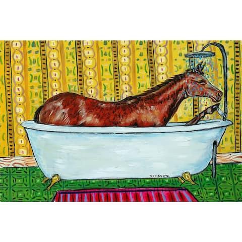Marmont Hill - Handmade Quarter Horse Bath Print on Wrapped Canvas