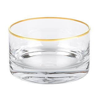 Mouth Blown Gold Rim All Purpose Bowl|https://ak1.ostkcdn.com/images/products/16288539/P22655048.jpg?impolicy=medium