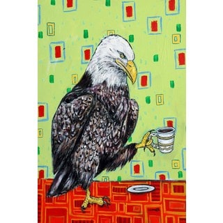'Eagle Coffee' Painting Print on Wrapped Canvas
