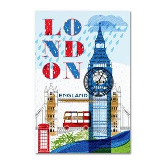 Lisa Powell Braun 'London' Canvas Art