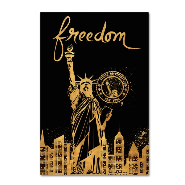 Lisa Powell Braun 'Statue of Liberty' Canvas Art