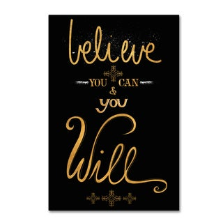 Lisa Powell Braun 'Believe' Canvas Art