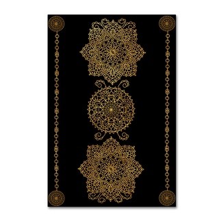 Lisa Powell Braun 'Gold Medalions' Canvas Art