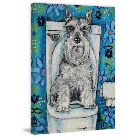 Marmont Hill - Handmade Schnauzer Print on Wrapped Canvas