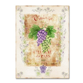 Lisa Powell Braun 'Vintage Wine Label' Canvas Art