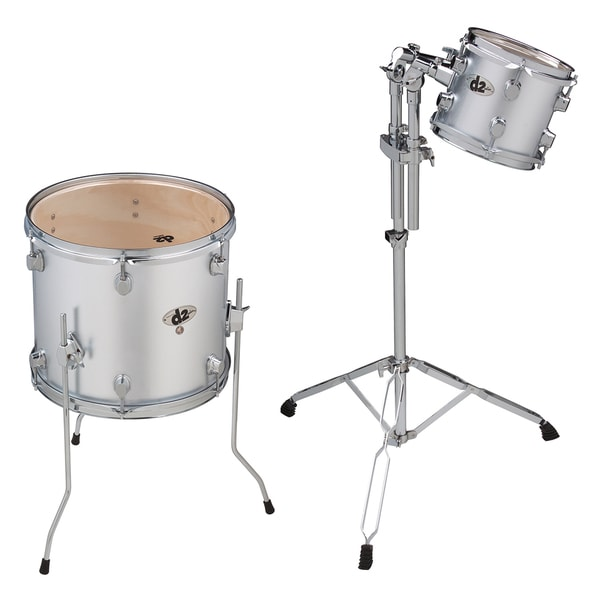 """ddrum D2 2-Piece Add-On 8"""" & 14"""" Tom Pack - Silver"""