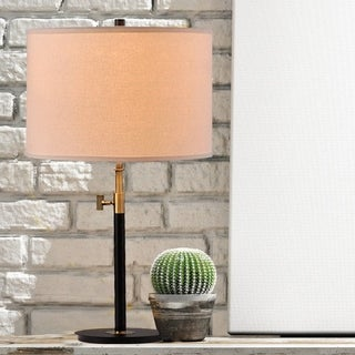 Carbon Loft Poole Riley 27.5-inch 2-way Adjustable Antique Brass and Matte Black Metal Table Lamp - Thumbnail 0