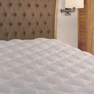 Extra Plush RV Mattress Pad Topper with Fitted Skirt (For Recreational Vehicles)